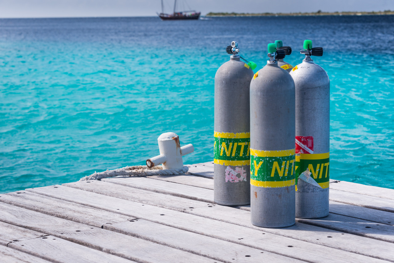 Photo of Nitrox diving course.