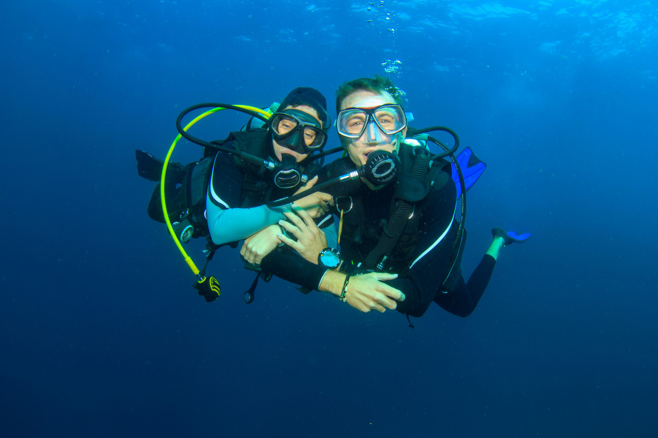 Photo of Rescue diving course.