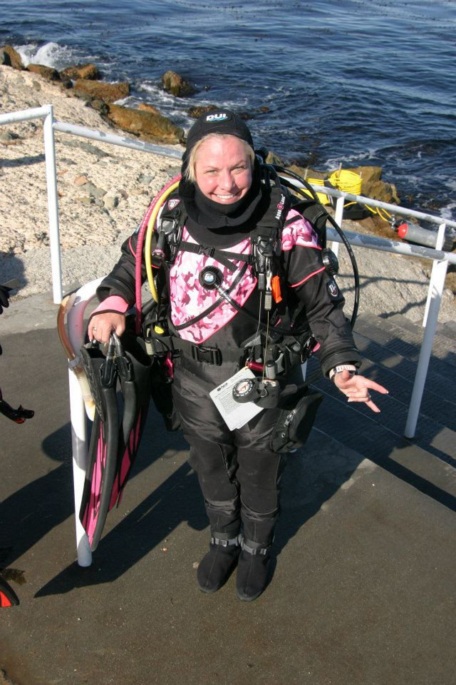Photo of Dry Suit Diver diving course.