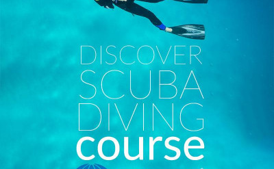 Photo of PADI Discover Scuba Diving Program diving course.