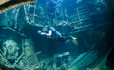 Photo of Wreck Diver diving course.