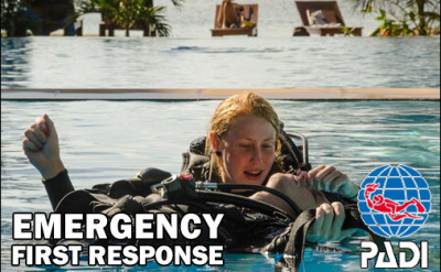 Photo of Emergency First Response (EFR) Certification diving course.