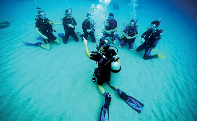 Photo of PADI Open Water Scuba Certification and Scuba Diving Merit Badge Program diving course.